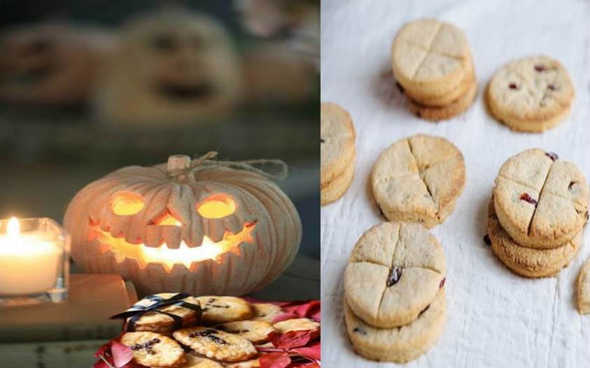 Halloween with two pics of Pumpkin and soul cake