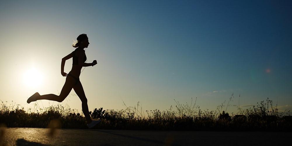 Female Runner alone