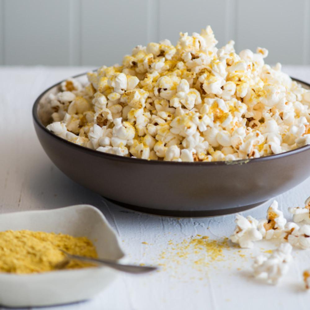 Popcorn with yeast