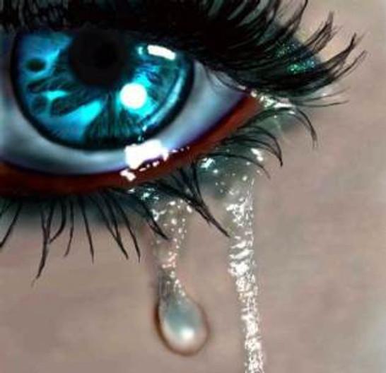Shimmering pool of tears