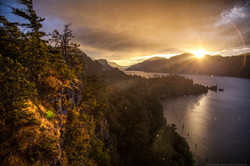 Gorge Last sun
