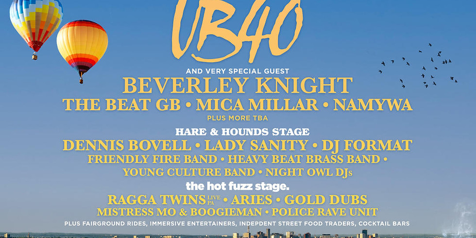 Live From The Valley: UB40, Beverley Knight, Hare & Hounds Stage + Much More!