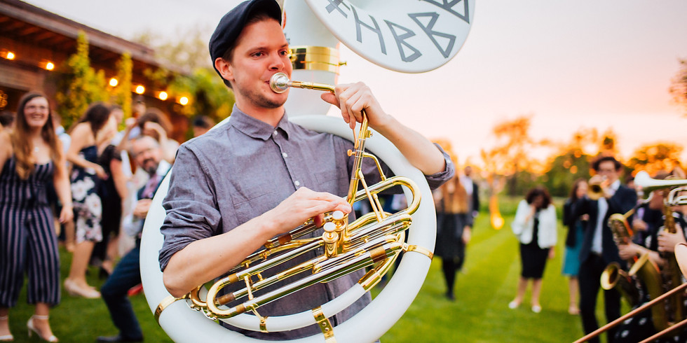EVERYBODY'S BIRTHDAY AT THE OLD CROWN WITH HEAVY BEAT BRASS BAND