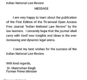 Indian National Law Review