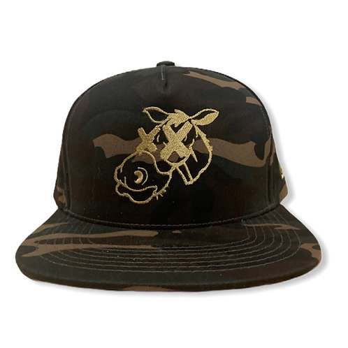 Deadass Gold Camo Snapback Hat