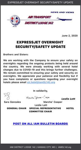 ExpressJet Overnight/Security and Saftey