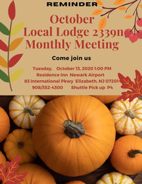 Reminder of the October LL2339n Meeting