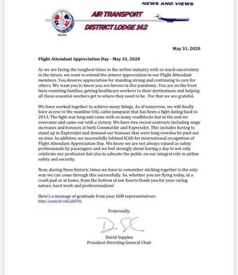 Flight Attendant Appreciation Day