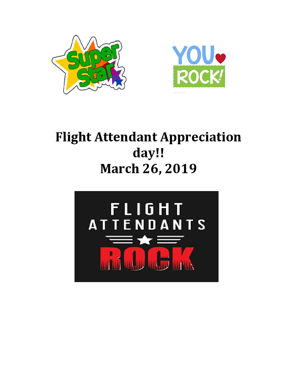 NEWARK FA FLIGHT ATTENDANT APPRECIATION DAY