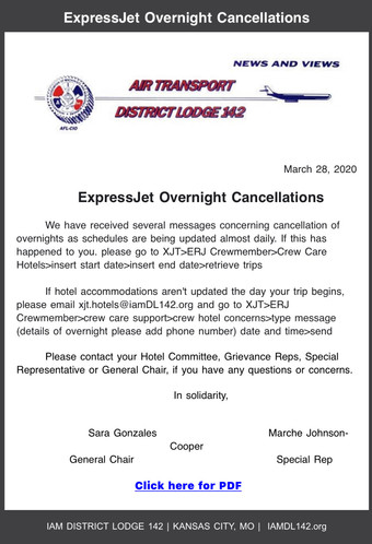 XJT Overnight Cancelllations