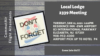 Reminder for the January Local Lodge Meeting