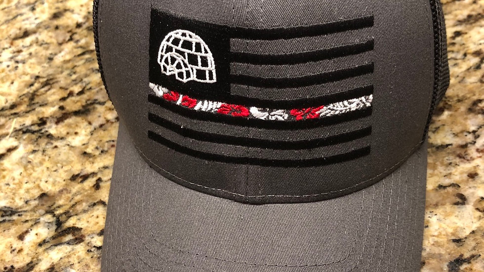 Charcoal/Black Mesh Fitted and SnapBack Hat