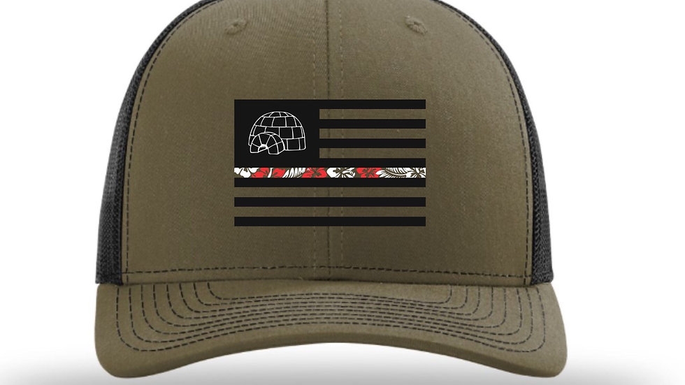 OD Green/Black Mesh Fitted Hat