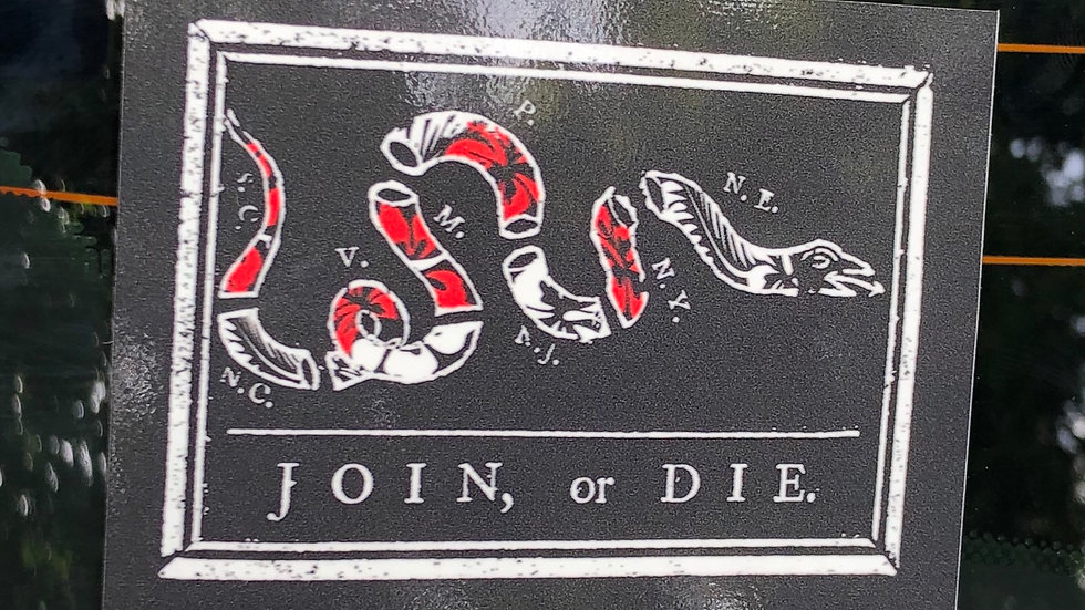 Join or Die Flag Sticker