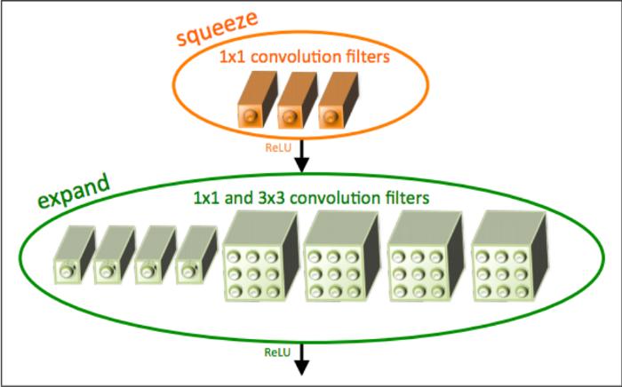 The Fire Module in Squeeze Net