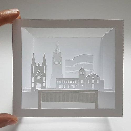 São Paulo em camadas - cartão 3D