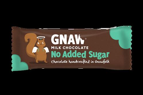 """""""GNAW CHOCOLATE"""" No Added Sugar Milk Chocolate Bar 35gr (0,08 lb)"""