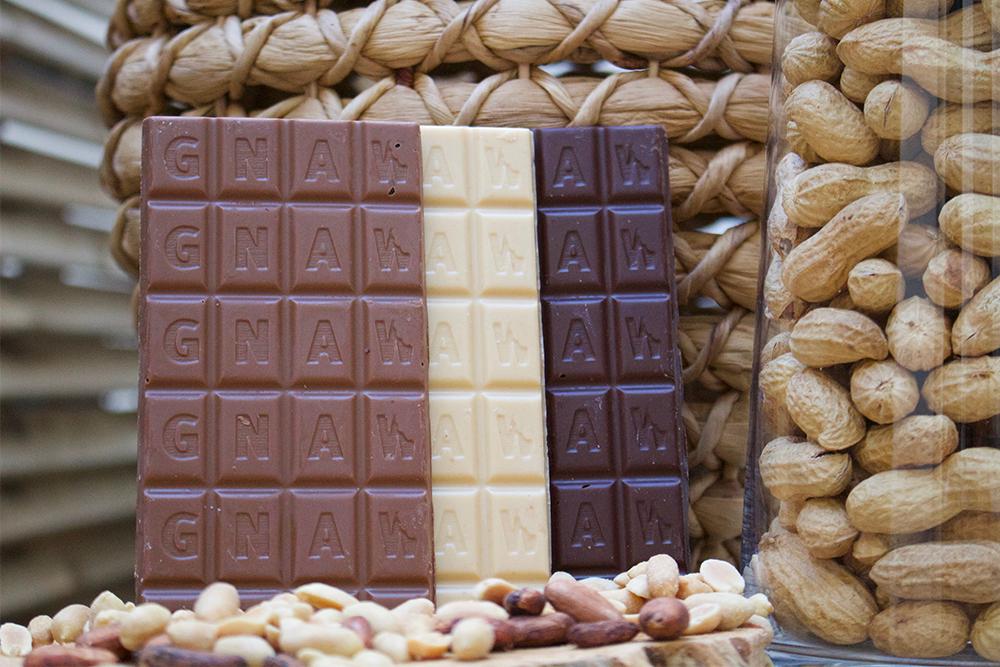 GNAW CHOCOLATE ORGANIC PEANUT BUTTER 100GR