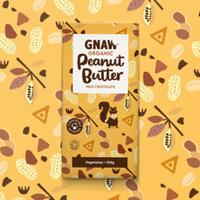 GNAW CHOCOLATE ORGANIC MILK CHOCOLATE PEANUT BUTTER 100GR UAE