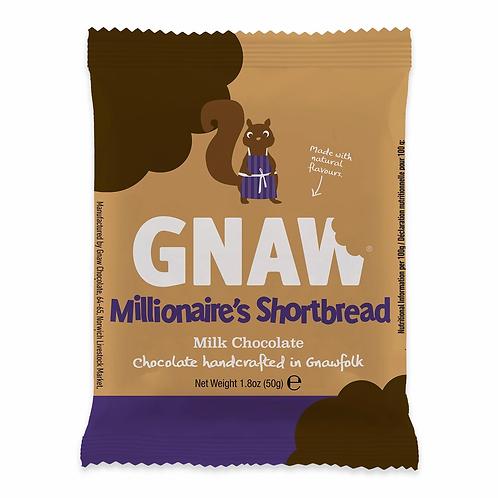 """GNAW CHOCOLATE"" Millionaire's shortbread milk chocolate 50gr (0,11 lb)"