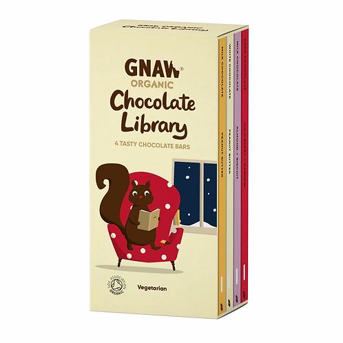 """GNAW CHOCOLATE"" Organic Chocolate Library 400GR (0,88 lb)"