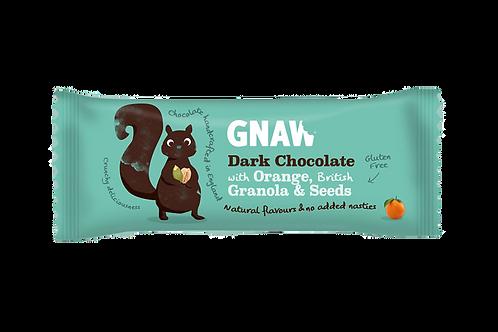 """GNAW CHOCOLATE"" Dark Chocolate with Granola and Orange 35g (0,08 lb)"