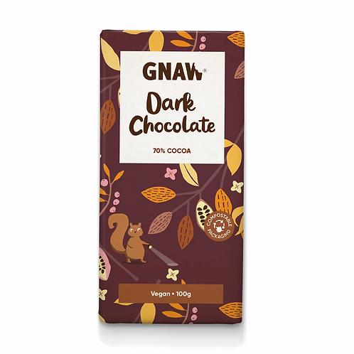 """GNAW CHOCOLATE"" Dark chocolate bar 70% . Vegan 🌱100gr (0,22lb)"
