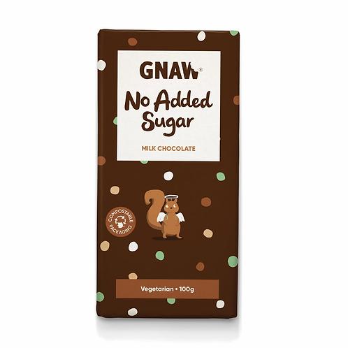 """""""GNAW CHOCOLATE"""" No Added Sugar Milk Chocolate Bar 100gr (0,22 lb)"""