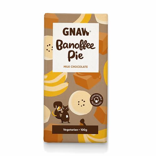 """GNAW CHOCOLATE"" Banoffee Pie Milk Chocolate Bar 100gr (0,22lb)"