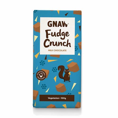 """""""GNAW CHOCOLATE"""" Fudge Crunch Milk Chocolate Bar 100gr (0,22lb)"""