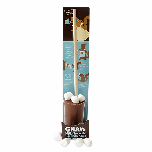 """GNAW HOT"" Milk Chocolate Hot Choc Shot With Mini Marshmallows 50gr (0,11 lb)"