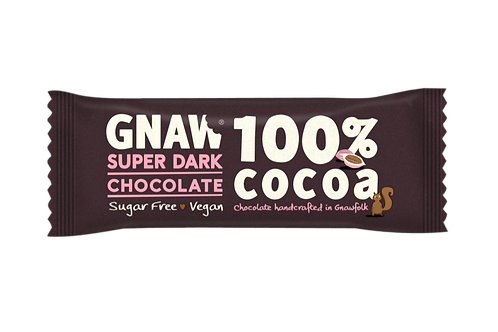 """GNAW CHOCOLATE"" 100% Cocoa Super Dark Bar. Vegan 🌱35gr (0,08 lb)"
