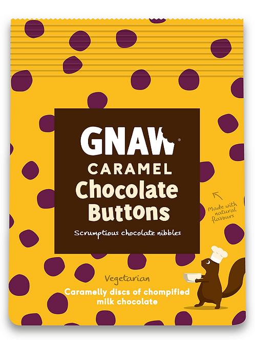 """GNAW CHOCOLATE"" Caramel chocolate buttons 150gr (0,33lb)"