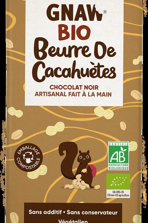 "FRENCH ORGANIC ""GNAW CHOCOLATE"" PEANUT BUTTER DARK CHOCOLATE 100GR (0,22 lb)"