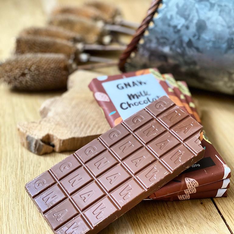 GNAW CHOCOLATE GREEDY MILK 100GR UAE