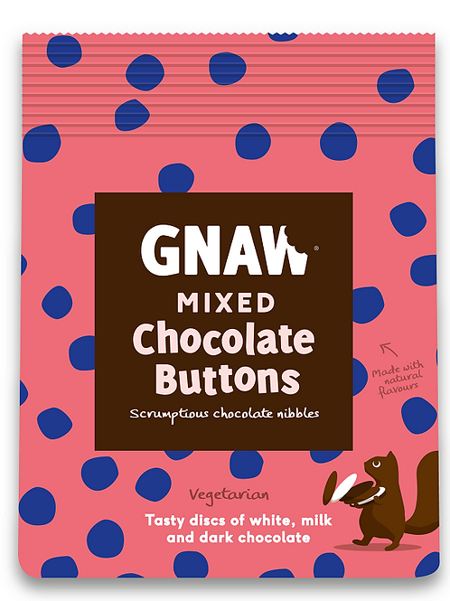 """""""GNAW CHOCOLATE"""" Mixed chocolate buttons 150gr (0,33lb)"""