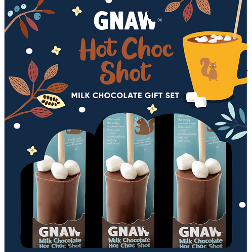 """GNAW HOT BOX"" Milk Chocolate Hot Shot Gift Box 150gr (0,33 lb)"