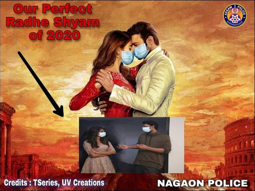 Assam Police Dept. add mask to Prabhas 20 first look