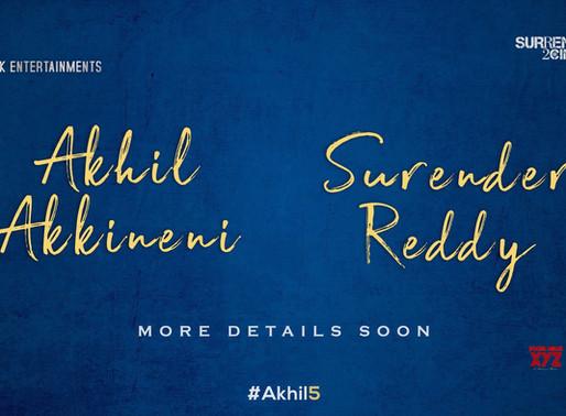 Akhil new film #Akhil5 with Director Surender Reddy