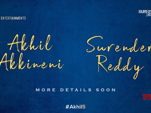 Akhil new film #Akhil5 with Director Surender Reddy