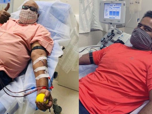 #coronawarriors: Bahubali music director Keeravani and His son Donated Plasma | News14