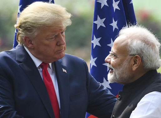 Modi not in good mood : Trump