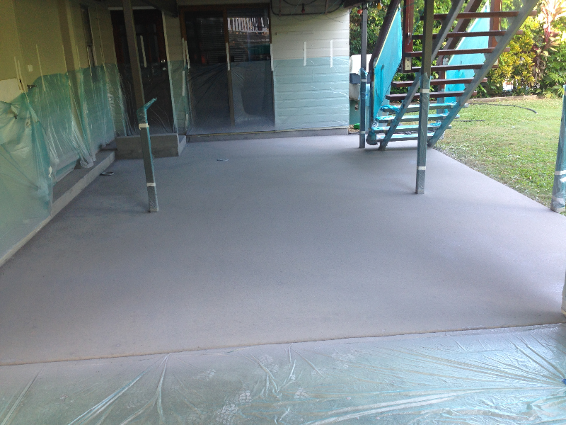 Plain Patio - Before Covacrete