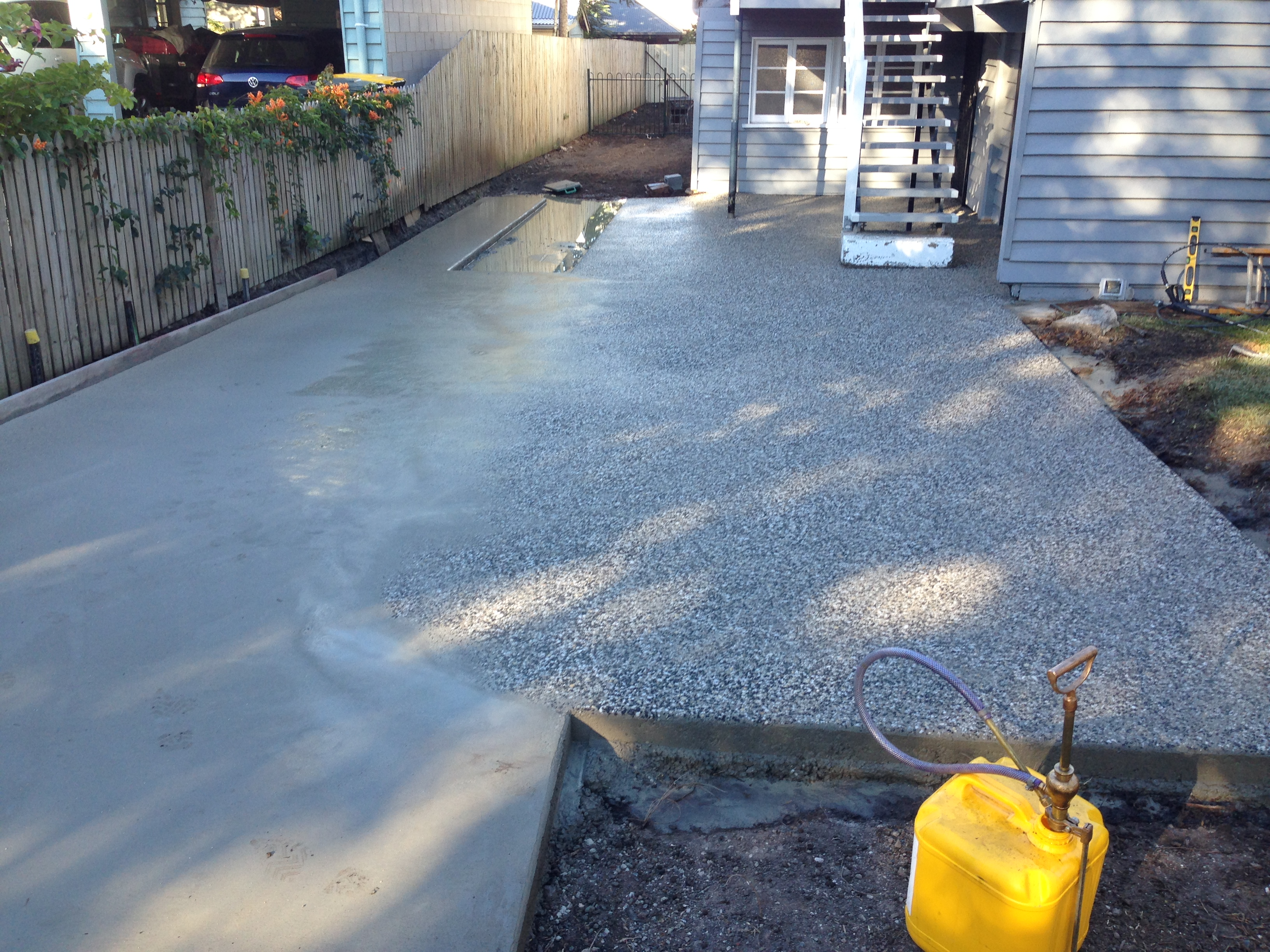 Exposed Driveway - Exposing Stage