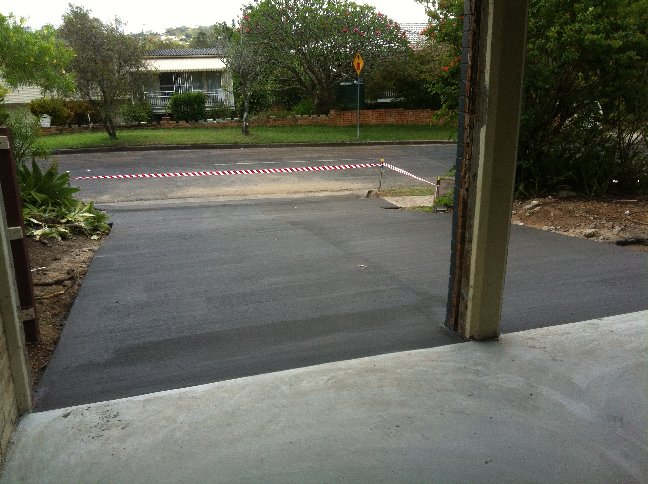 Coloured Driveway - Finished