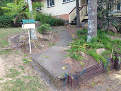 Exposed Path & Steps - Before