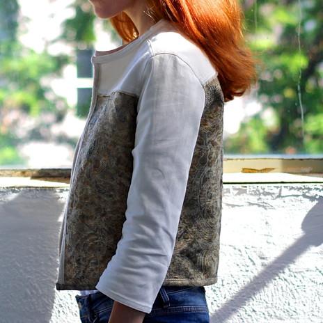 veste bi-matière