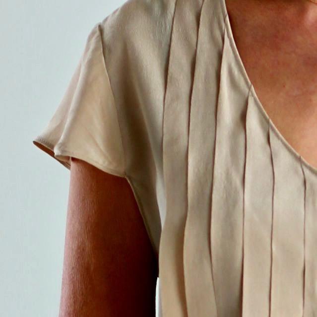 blouse soie