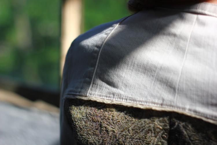 detail veste bi-matière