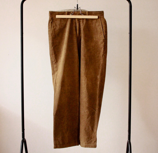 avant pantalon velours